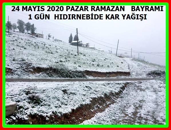 Trabzon yayalarınnda karlı iki bayram