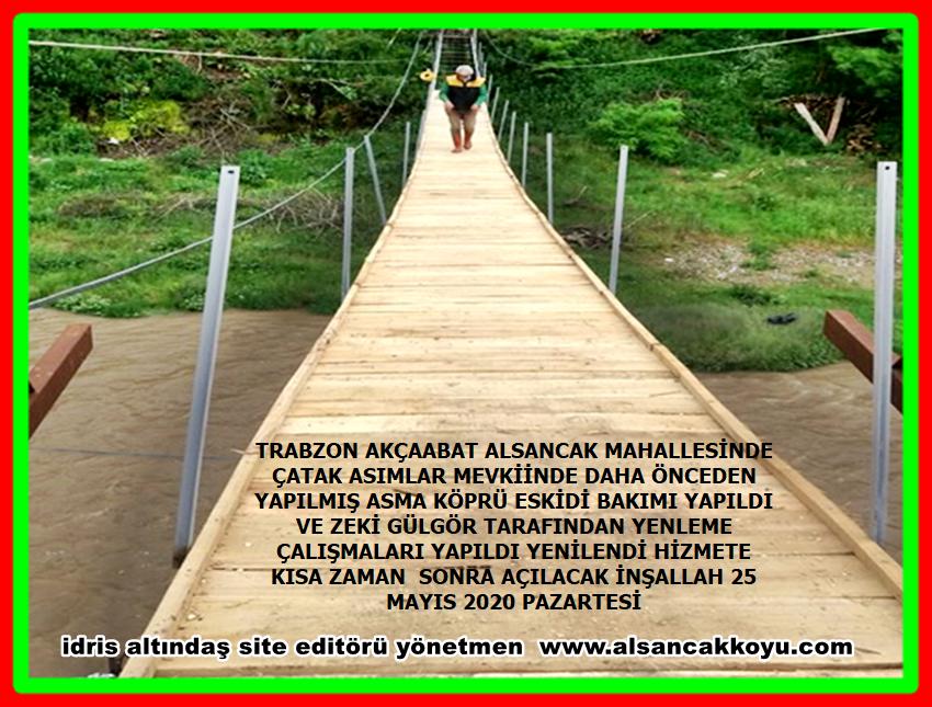 Trabzon akçaabat Alsancak çatak mevkiinde