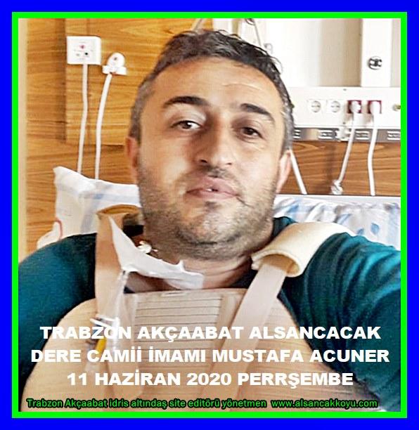 Trabzon akçaabat Alsancak Dere camii  imamı
