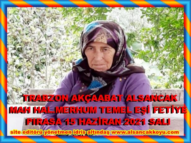 Trabzon Akçaabat alsancak mah hal.
